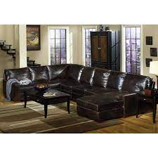 contemporary brown leather 4 piece