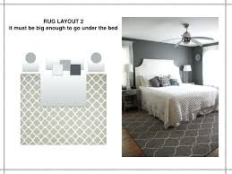 Area Rug Under Bed The Rules Of Rug Layout It Must Be Big Enough To