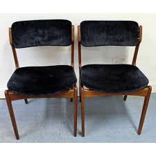 mid century walnut dining chairs best of pair of mid century danish modern erik buch for