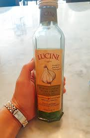 i recently disered lucini italia robust garlic extra virgin olive oil and i am obsessed cold pressed and authentic i have been pouring this stuff on