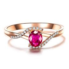 Ruby Stone Gold Ring Design Us 59 9 0 5ct Vbori 18k Gold Natural Ruby Gemstone Ring For Women Wedding Jewelry Diamond Ring Fine Jewelry Valentine In Rings From Jewelry