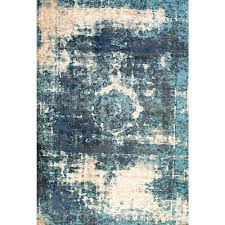 surprising vintage blue rug nuloom lindsy 5 ft 11 in x 9 area owtc01a