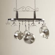 Kitchen Ceiling Hanging Rack Darby Home Co Kitchen Hanging Pot Rack Reviews Wayfair