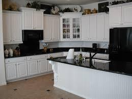 Granite For White Cabinets Kitchen White Cabinets Black Granite