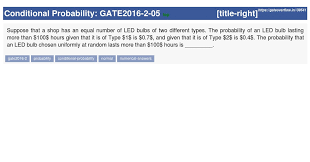 Types Of Probability Gate2016 2 05 Gate Overflow