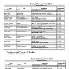 Contacts List Template Basic Contact List Template Dotxes 49