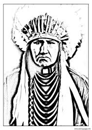 Coloring Pages Print Adult Native American Indian Coloring Pages