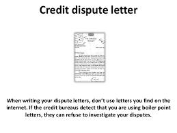 Letters To Dispute Credit Credit Dispute Letter And Credit Repair Tips