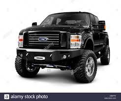 Black 2008 customized Ford Super Duty F-250 pickup truck Stock ...