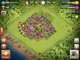 Clans Of Clans Base Design Base Design Town Hall Level 7 7 Defensive Clash Of Clans