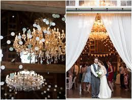 barn wedding chandeliers