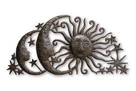sun moons and stars celestial arch metal wall art steel wall hanging sculpture family room home decor 34 x 17