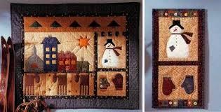 Quilted Folk Art Wall Hangings Celebrate the Season - Quilting Digest & Folk Art Yuletide Wall Quilts Adamdwight.com