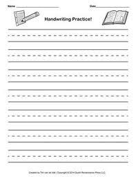 14. handwriting paper template, kindergarten blank writing ...