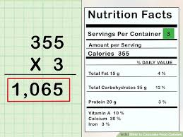 Food Chart With Calories Protein And Carbs 3 Ways To Calculate Food Calories Wikihow