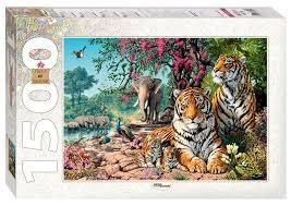 <b>Пазл Step puzzle</b> Art Collection <b>Тигры</b> (83054), 1500 дет. — купить ...