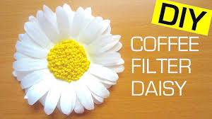 Daisy Paper Flower How To Make A Paper Flower Daisy Coffee Filter Flower