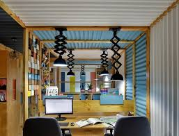 office incorporates corrugated metal sheets gives it a unique outlook the architects diary