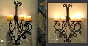 tuscan candle holders wall decor holder