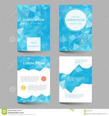 Document Template Low Poly Design Stock Vector Illustration Of