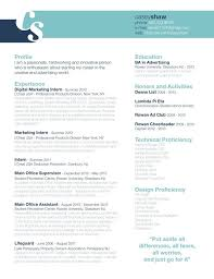 resume header design