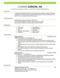 Resume Examples For Nurses Enchanting Sample Registered Nurse Resume Luxury Rn Resume Examples Best New