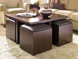 coffee tables with stools underneath clinton regard to storage table ottoman ideas 3