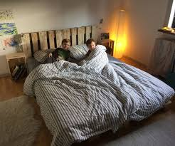 Pallet Bedroom Simple Elegant Pallet Bed 6 Steps With Pictures