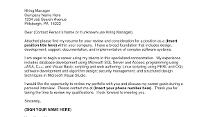 Picturesque How To Address A Cover Letter When No Name Is Provided