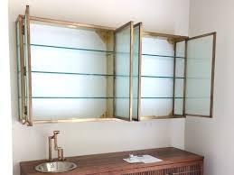 bespoke antique brass glass wall