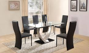 black dining table and 6 chairs glass kitchen table chairs