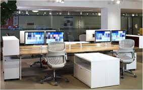 best office decorations. Dual Desk Home Office Decorations Inspiring On Imposing For Monitors Best Way