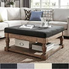 storage coffee table ottoman baer pine storage tufted cocktail ottoman by inspire q artisan storage coffee