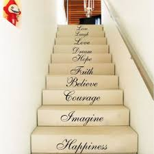 Stairs Quotes Inspiration Stair Riser Stickers Ten Inspiration Words Wall Quotes Vinyl Decals