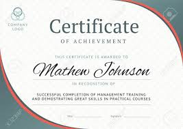 Certificate Of Training Completion Template Certificate Of Achievement Template Design Business Diploma