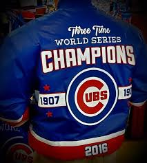 jh design chicago cubs world series champions leather jacket
