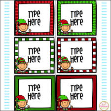Editable Labels Christmas Labels