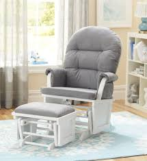 chair and ottoman sets. shermag aiden glider and ottoman set - white with grey fabric chair sets