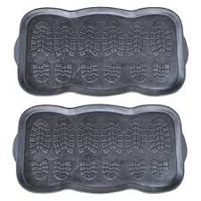 Charming Rubber Boot Trays And Scraper