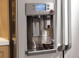 refrigerator with keurig coffee maker. GE Cafe Refrigerator With Keurig Kcup Coffeemaker In Coffee Maker