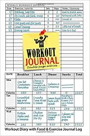 workout and food journal workout journal workout diary with food exercise journal log