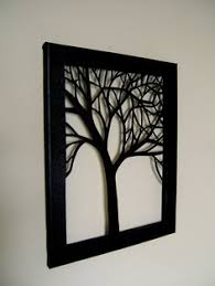 metal tree silhouette wall art