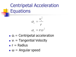 centripetal acceleration equations