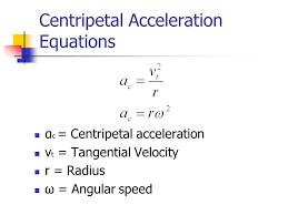 centripetal acceleration equations