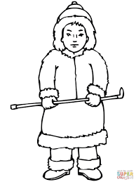 Small Picture Inuit Boy coloring page Free Printable Coloring Pages