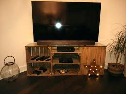 wood crate tv stand apple crate unit