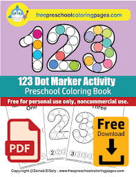 Free homeschooling and educational printables. Numbers 123 Count Apples Dot Activity Free Coloring Book Pdf