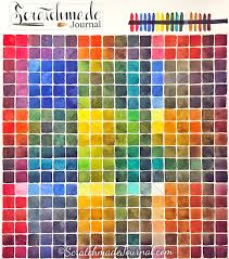 Paint Color Mixing Chart Guide To Watercolor Mixing Charts Plus Free Color Chart