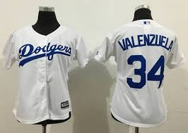 34 Baseball Fernando Stitched White Fashion Lady Dodgers Jersey Valenzuela