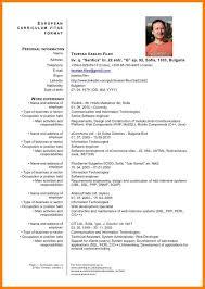 5 European Curriculum Vitae Format Word Business